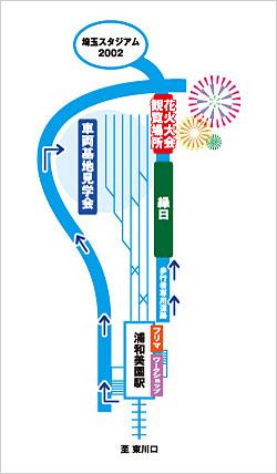 浦和美園まつり&花火大会 イベントマップ