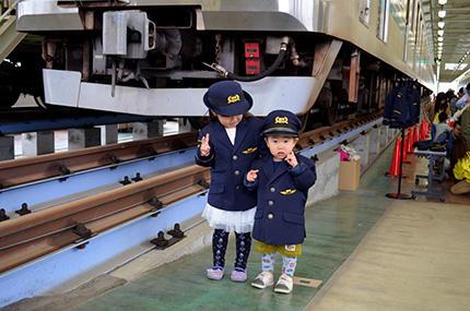 SR車両基地見学会(駅員制服)