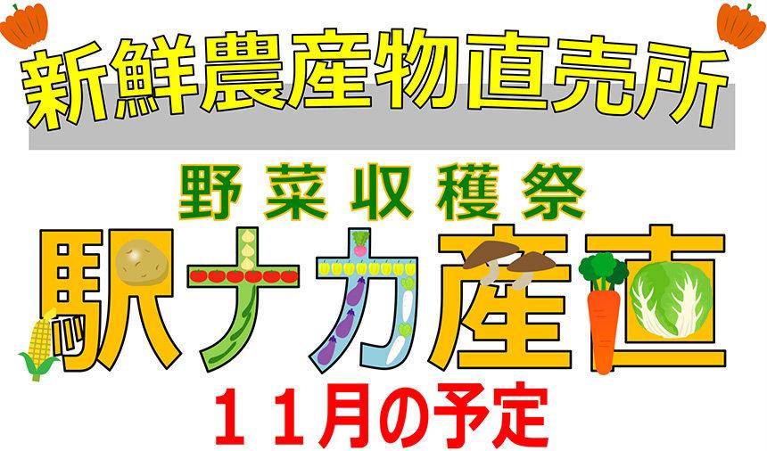 駅ナカ産直 11月分