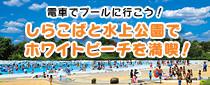 【終了】しらこばと水上公園でホワイトビーチを満喫しよう!