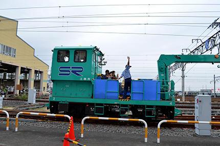 SR車両基地見学会(モーターカー)