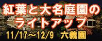 SR 東京メトロパスで行く六義園「紅葉と大名庭園のライトアップ」