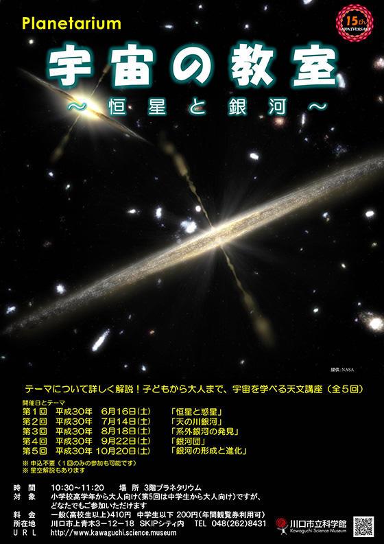 天文講座「宇宙の教室~恒星と銀河~」