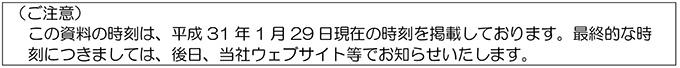 H31年3月16日ダイヤ改正プレスリリース