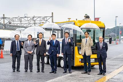 自動運転EVバス実証実験
